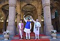 The Prime Minister, Shri Narendra Modi and the Prime Minister of Japan, Mr. Shinzo Abe visit the 'Sidi Saiyyid Ni Jaali', in Ahmedabad, Gujarat on September 13, 2017 (3).jpg