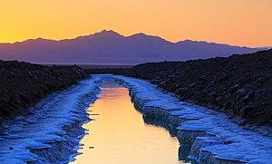 Amboy, California - The Salt Ponds of Amboy at sunset