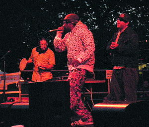 The Saturday Knights - The Saturday Knights at Bumbershoot 2008. Left to right: DJ Suspence, Tilson, Barfly