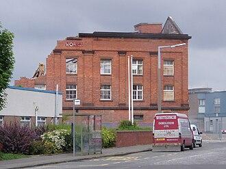 Grangemouth - The Soap Works demolition began in July 2005.