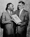 The Social Justice Award is presented on behalf of the Religion and Labor Foundation to Dr. Martin Luther King, Jr. (5279610458).jpg