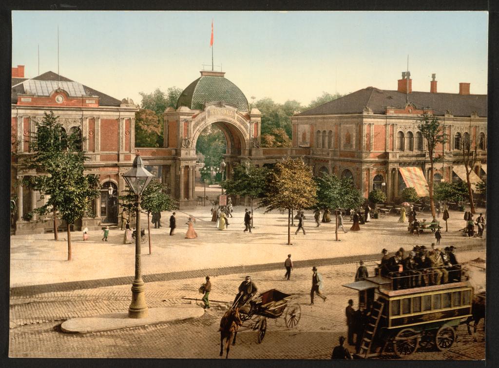 Entrée du parc de Tivoli à Copenhague en 1900.