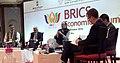 The Union Minister for Finance and Corporate Affairs, Shri Arun Jaitley at the BRICS Economic Forum Meeting, in Goa on October 14, 2016. The Secretary, Department of Economic Affairs, Shri Shaktikanta Das is also seen.jpg