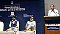 The Union Minister for Urban Development, Housing and Urban Poverty Alleviation and Parliamentary Affairs, Shri M. Venkaiah Naidu addressing at the inauguration of the Smart City Mission Regional Workshop for 13 States.jpg