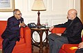 The Union Minister of External Affairs, Shri Pranab Mukherjee meeting the President of the Islamic Republic of Afghanistan, Mr. Hamid Karzai, in New Delhi on January 12, 2009.jpg