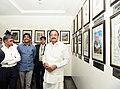 The Vice President, Shri M. Venkaiah Naidu visiting the Photo Exhibition, at the Swarna Bharat Trust, in Muchintal, Hyderabad.JPG