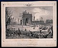 The convoy containing the remains of Napoleon Bonaparte making a triumphant entry in Paris in 1840.jpg