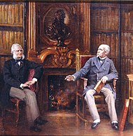 The duc d'Aumale in his study with a friend - Ferrier - Bibliothèque et Archives du Château de Chantilly.jpg
