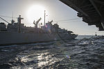 The fast combat support ship USNS Arctic (T-AOE 8), left, conducts a replenishment at sea with the aircraft carrier USS Harry S. Truman (CVN 75) in the Gulf of Oman Jan. 1, 2014 140101-N-IG780-239.jpg