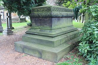 Alexander Black (architect) - The grave of Alexander Black, Dean Cemetery