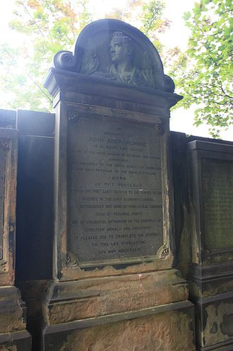 John Abercrombie (physician) - The grave of John Abercrombie, St Cuthberts, Edinburgh