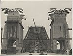 The roadway and pylons of the Harbour Bridge, 1932 (8282692485).jpg