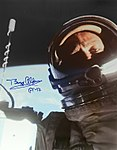 The second man on the moon makes the first spacewalk selfie, by Buzz Aldrin.jpg