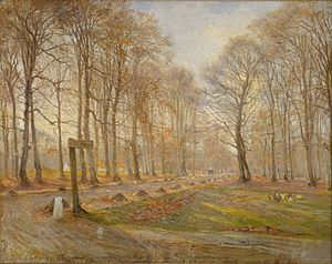 Theodor Philipsen - Image: Theodor Philipsen Late Autumn Day in the Jægersborg Deer Park, North of Copenhagen Google Art Project