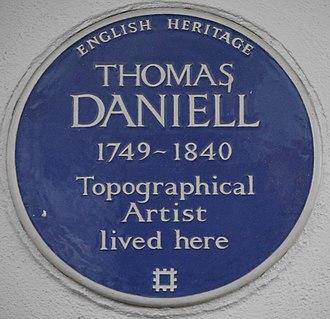 Earls Terrace - Blue plaque, 14 Earls Terrace