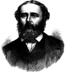 A black and white drawing of Thomas Ferrier Hamilton from 1873.