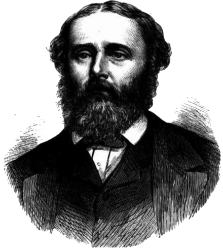 Port Phillip's Thomas Ferrier Hamilton (seen here in 1873), the highest scorer of the match Thomas F. Hamilton illustration.png