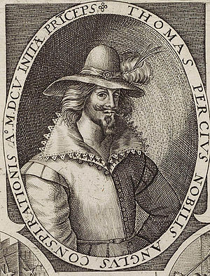 Thomas Percy (Gunpowder Plot) - Engraving of Percy