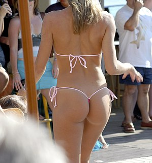 G-string - Woman wearing a G-string