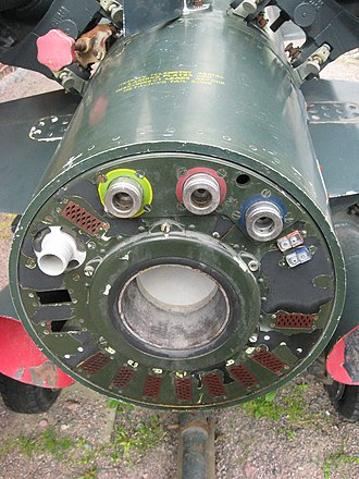 Missile rear end connector details. The Artillery Museum of Finland, Hameenlinna. Thunderbird-MKI-back-detail.jpg