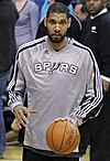 Tim Duncan at a game