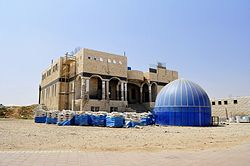 Tirabin al-Sana's mosque under construction