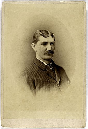 Tommy Bond won the triple crown in 1877, leading the National League in wins, strikeouts, and earned run average. Tommy bond baseball.jpg