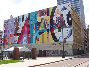 Toof Building - Mural on the eastern side of the building (2009)