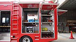 Tool box of JMSDF Rescue vehicle(Hino Dutro, 41-2311) left side view at Maizuru Air Station July 29, 2017 01.jpg
