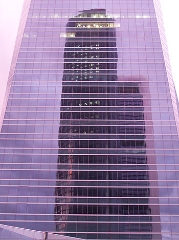 Torre Sacyr Vallehermoso %26 Torre Caja Madrid reflejadas en Torre de Cristal