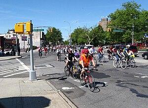 Eastern Parkway - At the head of Rockaway Avenue