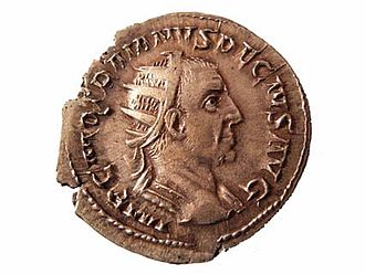 Battle of Abritus - Coin of Trajan Decius, Roman Emperor defeated and killed in the battle