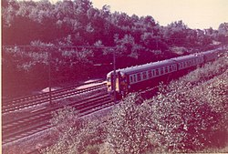 Train travelling from Shenfield to Brentwood in 1967 - geograph.org.uk - 111514.jpg
