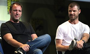 Matt Stone - Stone (left) and Trey Parker (right) at San Diego Comic-Con in July 2016.