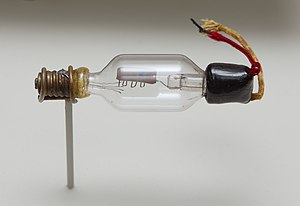 Vacuum tube - The first triode, the De Forest Audion, invented in 1906