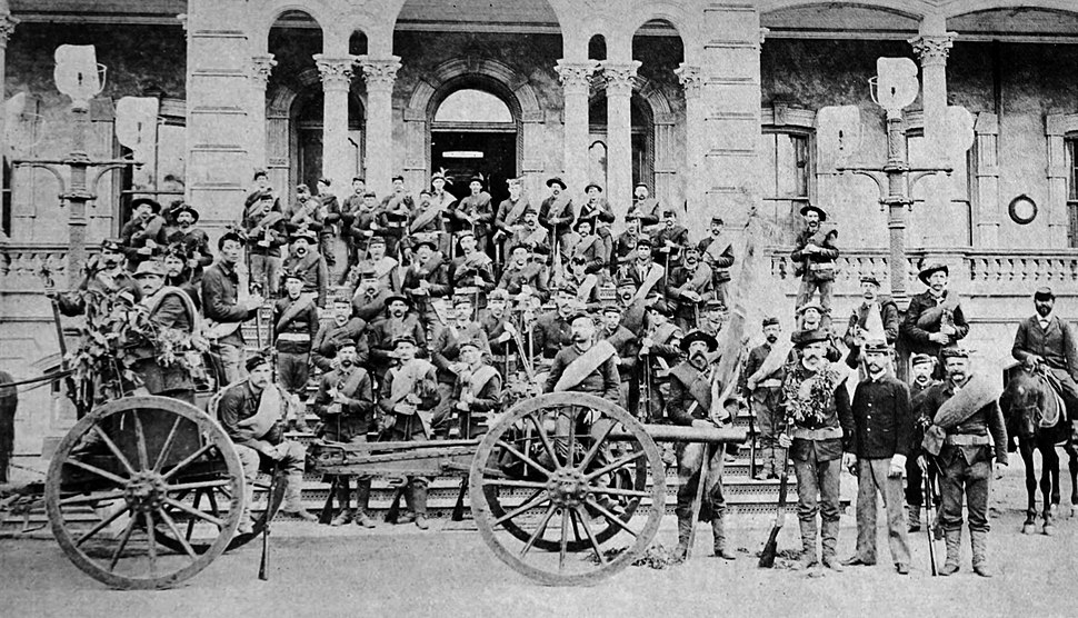 Troops of the Republic of Hawaii in 1895