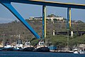 Tug Boats beneath the Queen Juliana Bridge, Willemstad.jpg