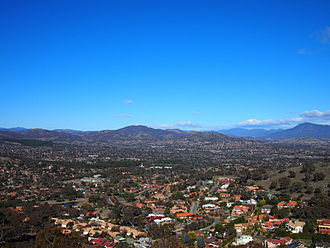 Tuggeranong - The view from Mount Wanniassa, looking down into the Tuggeranong Valley in 2013.