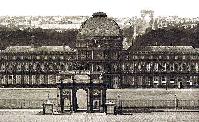 Тюильри между двумя арками. Около 1860 года