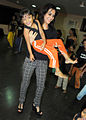Tulip Joshi interacts with young girls at Arts in Motion's 'Dance with Joy' event 09.jpg