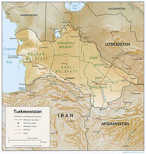 Geography of Turkmenistan Wikipedia