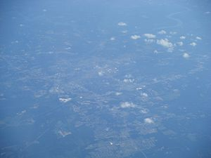 Tuscaloosa, Alabama metropolitan area - Aerial view of the Tuscaloosa area