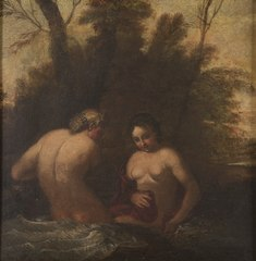 Two bathing nymphs