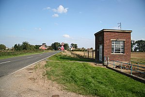 Twenty, Lincolnshire - The pumping station with the village in the background