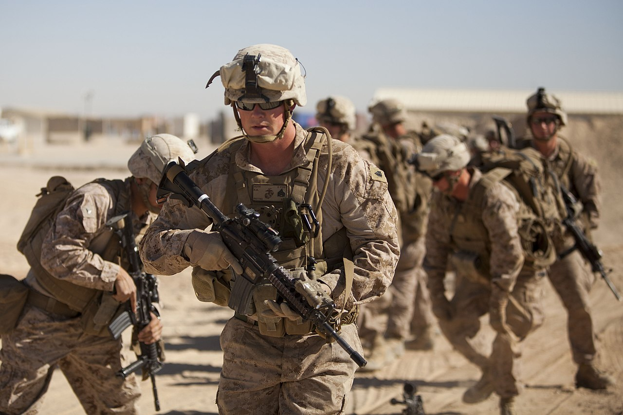 File:U.S. Marine Corps Sgt. Kyle Huth, a squad leader with ...