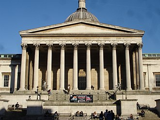 UCL Eastman Dental Institute - The main portico of University College London.