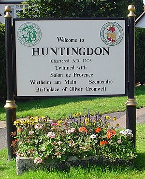 Huntingdon - Huntingdon welcome sign