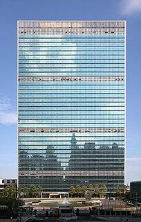 United Nations Secretariat Building Skyscraper in Manhattan, New York