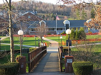 University of Pittsburgh at Greensburg - Bridge across Slate Run