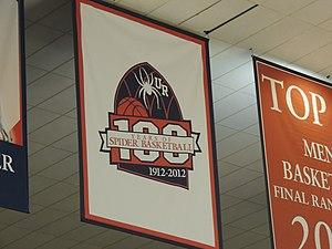 2012–13 Richmond Spiders men's basketball team - Banner commemorating 100 seasons of Spiders basketball